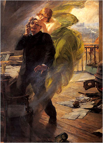 La Muse Verte by Albert Maignan